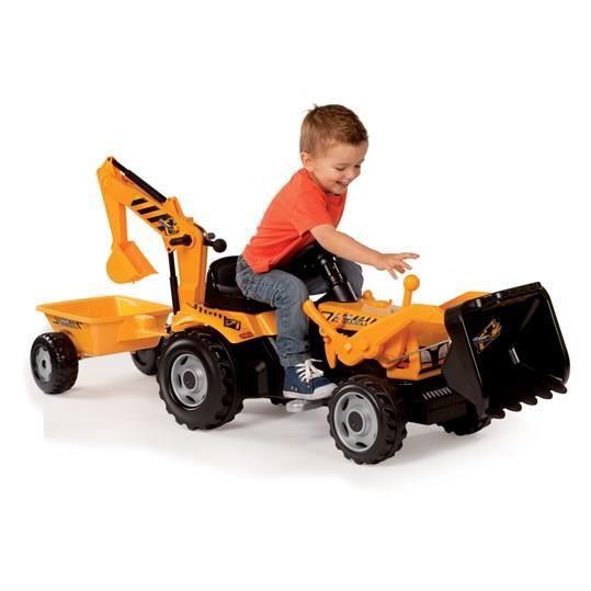 Smoby tracteur p dales enfant builder max remorque - Remorque tracteur enfant ...