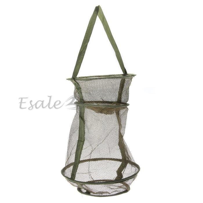 bourriche panier filet en nylon vert pour p che truite carnassier poisson prix pas cher. Black Bedroom Furniture Sets. Home Design Ideas