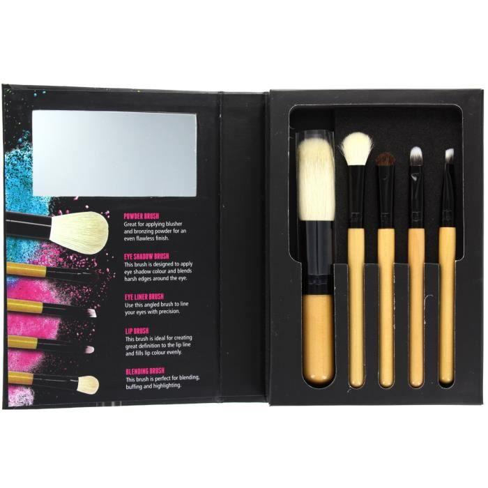 w7 brush with me lot de 5 pinceaux de maquillage poudre yeux l vres achat vente. Black Bedroom Furniture Sets. Home Design Ideas