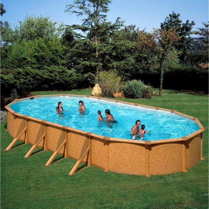 Mauritius piscine imitation bois 730 x 575 x 132cm achat vente kit piscine piscine imitat - Piscine imitation bois ...