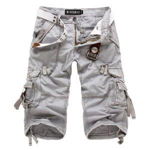 PANTACOURT Pantalon Homme Cargo Pantacourt Homme Mode Coup...