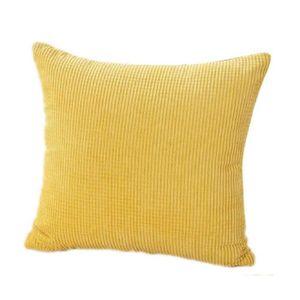 housse de coussin jaune achat vente housse de coussin jaune pas cher cdiscount. Black Bedroom Furniture Sets. Home Design Ideas