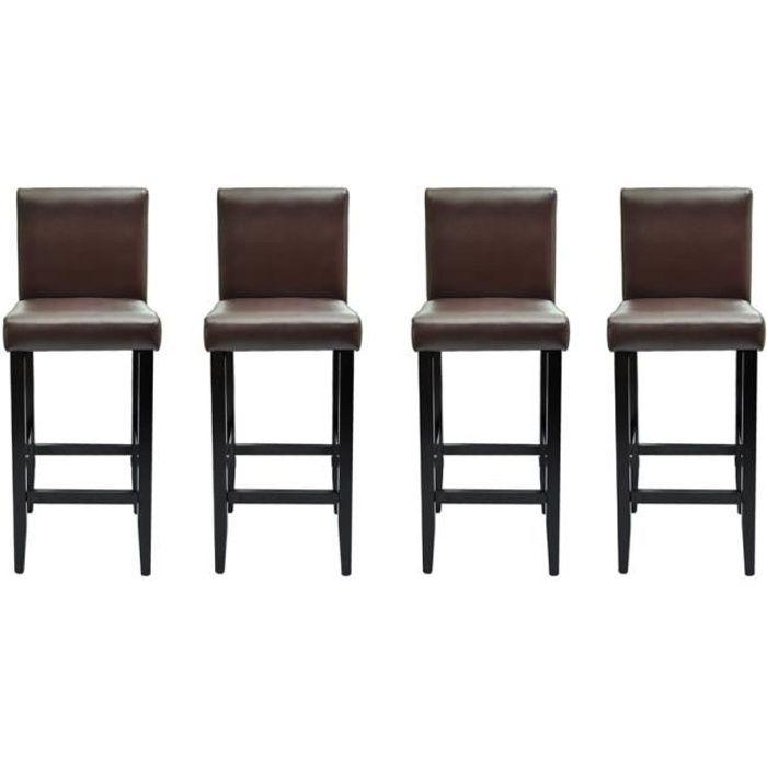 Chaises de bar lot de 4 tabourets de bar chicago achat vente tabouret de - Tabouret de bar lot de 4 ...