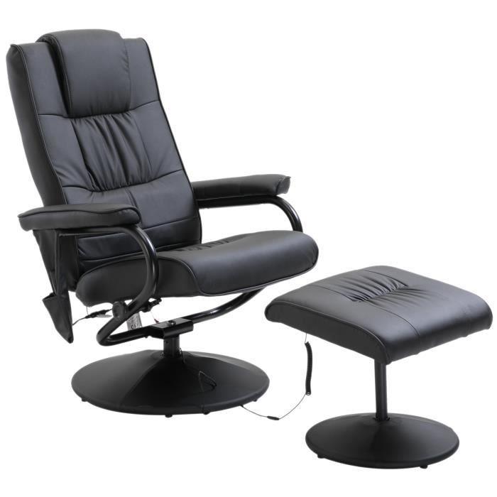 Fauteuil relax massant massimo noir myco00932 achat vente fauteuil noir - Cdiscount fauteuil relax ...