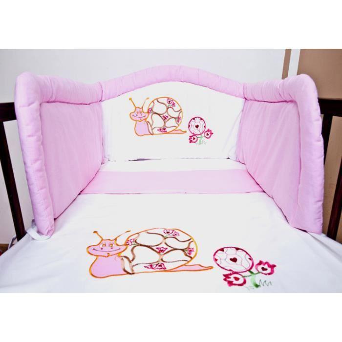 ensemble de lit b b 140x70 3 pi ces rose je achat vente parure de lit b b ensemble de. Black Bedroom Furniture Sets. Home Design Ideas