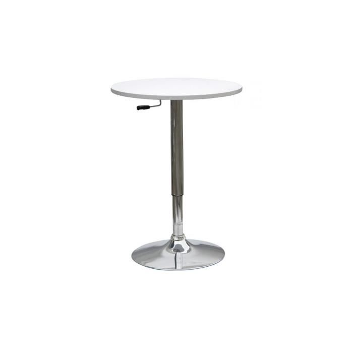 Week Table Bar R Haussable Blanche Achat Vente Table
