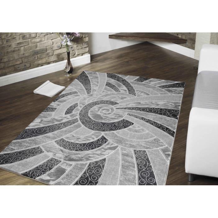 tapis 3d souple paris 4130 noir 200 x 290 cm achat vente tapis cdiscount. Black Bedroom Furniture Sets. Home Design Ideas