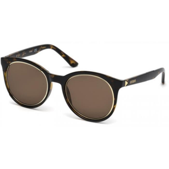 lunettes de soleil pour femme guess ecaille gu 7466 52e 53 21 achat vente lunettes de soleil. Black Bedroom Furniture Sets. Home Design Ideas