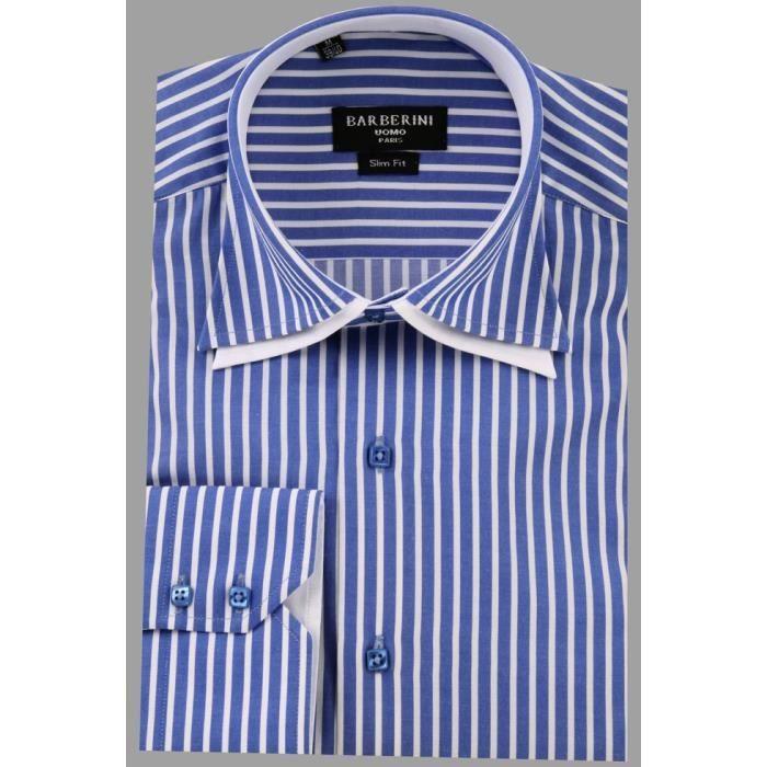 chemise homme bleue originale co bleu achat vente chemise chemisette cdiscount. Black Bedroom Furniture Sets. Home Design Ideas