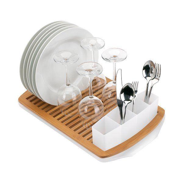 egouttoir vaisselle en bambou blanc achat vente egouttoir couverts egouttoir. Black Bedroom Furniture Sets. Home Design Ideas