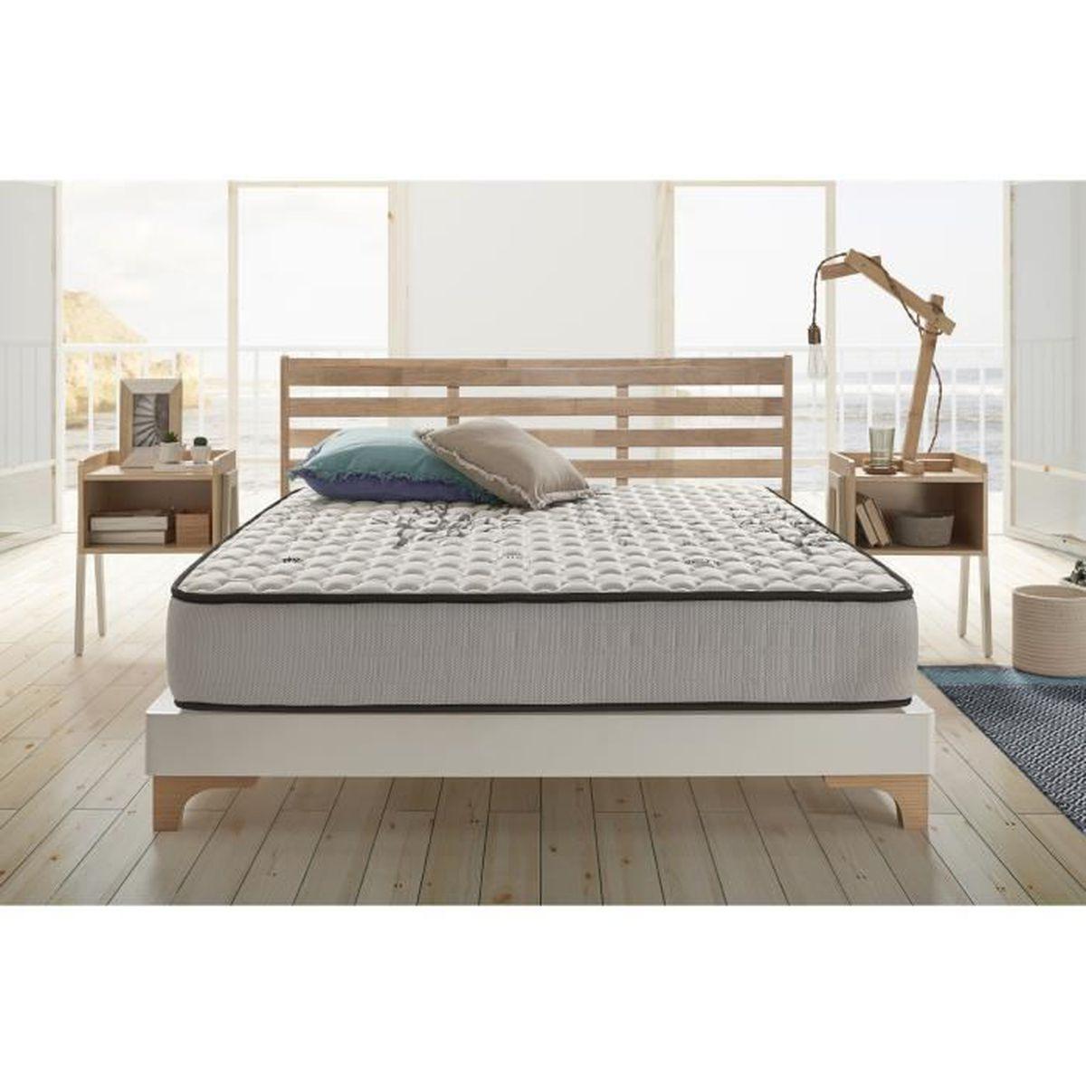 matelas m moire de forme stop stress 180x200 cm en blue latex pais 7 zones thermor gulable. Black Bedroom Furniture Sets. Home Design Ideas