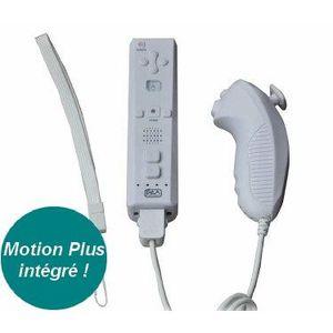 Télécommande Plus+Manette Nunchuk Blanc Wii-Wii U