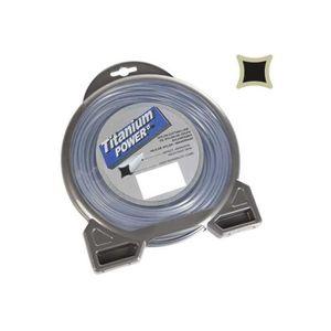 DÉBROUSSAILLEUSE  Fil débroussailleuse nylon Titanium carré 3mm par