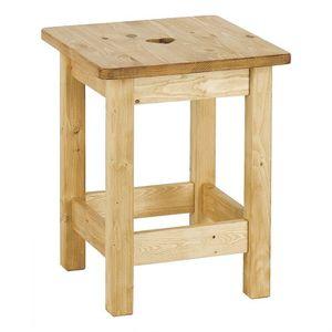 Tabouret en bois brut peindre avec coeur achat vente - Peindre un tabouret en bois ...