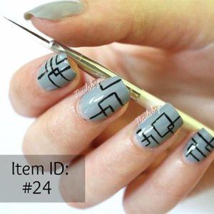 VERNIS A ONGLES Kit De 3 Pinceaux Fins/Liners Pour Nail Art. \u2039\u203a