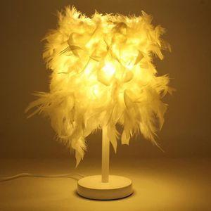 LAMPE A POSER LED Créative Lampe De Table Chevet Veilleuse Plume