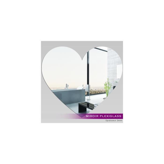 Miroir plexiglass acrylique coeur 2 ref mir 134 achat for Miroir qui s ouvre