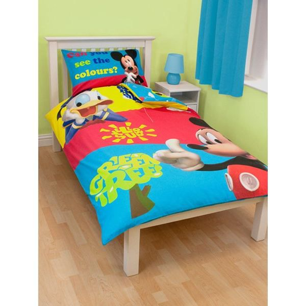 housse de couette mickey 140 x 200 cm achat vente. Black Bedroom Furniture Sets. Home Design Ideas