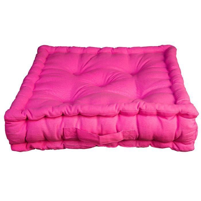 coussin de sol pacifique fuchsia 100 coton achat vente pouf poire cdiscount. Black Bedroom Furniture Sets. Home Design Ideas