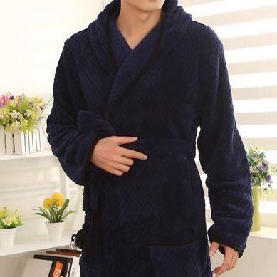 Robe de chambre homme bleu marine courte capuche avec pompons achat vente peignoir cdiscount for Peignoir homme capuche