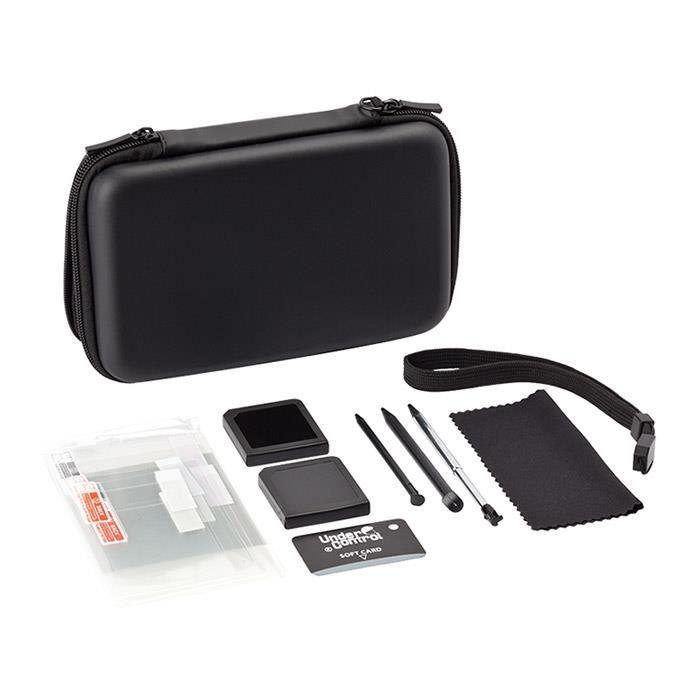 Pack accessoires new 3ds xl 3ds xl new 3ds 3ds noir for Housse 3ds xl reine des neiges