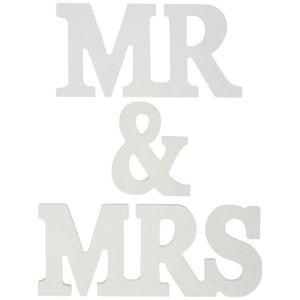 COFFRET THÉMATIQUE Hicollie® Lettres Mr & Mrs Figure Signe En Bois Dé