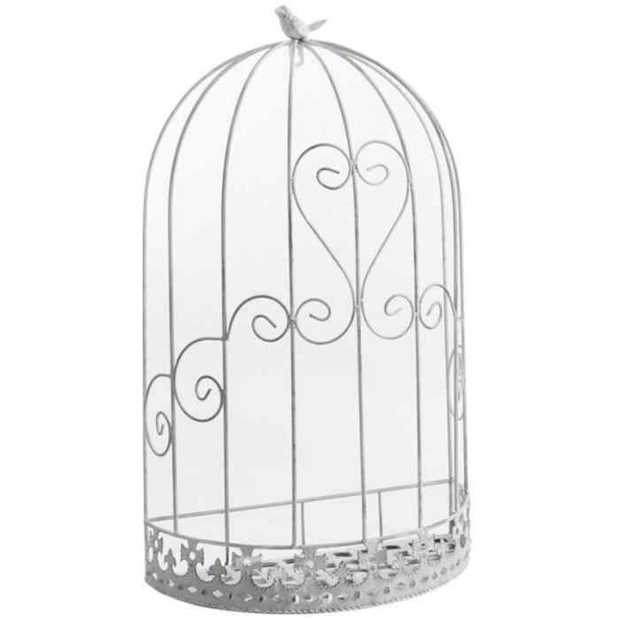cage murale d co oiseau en m tal 37x20x62cm achat vente voli re cage oiseau cage murale. Black Bedroom Furniture Sets. Home Design Ideas