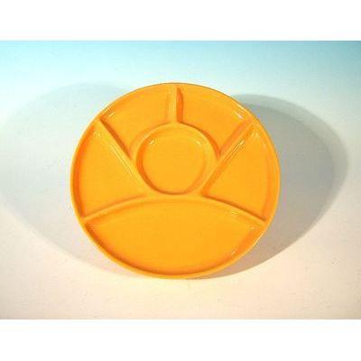assiette fondue ocre x6 achat vente assiette service cdiscount. Black Bedroom Furniture Sets. Home Design Ideas
