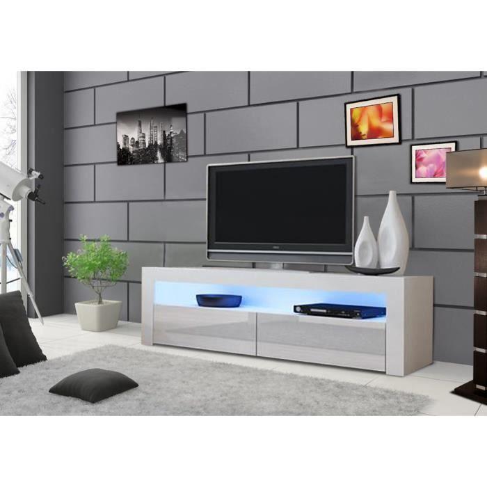 ... LED RVB - Achat / Vente meuble tv Meuble Tv design 157 cm blanc