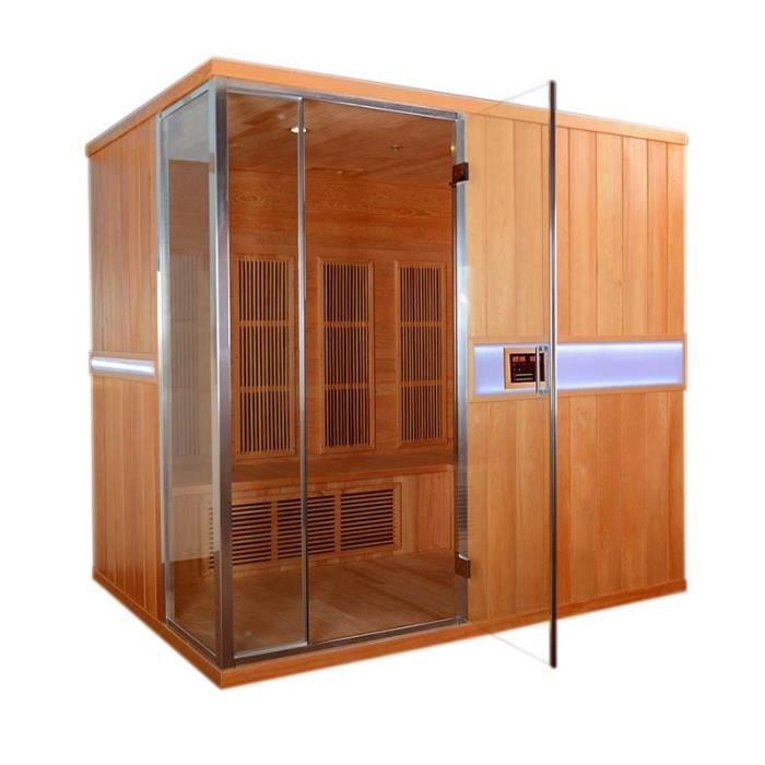 sauna infrarouge dolce vaxholm 4 5 places achat vente kit sauna sauna infrarouge dolce. Black Bedroom Furniture Sets. Home Design Ideas