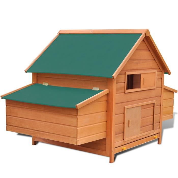 cage poules ext rieur avec 2 cages en bois pour oeufs achat vente clapier cage poules. Black Bedroom Furniture Sets. Home Design Ideas