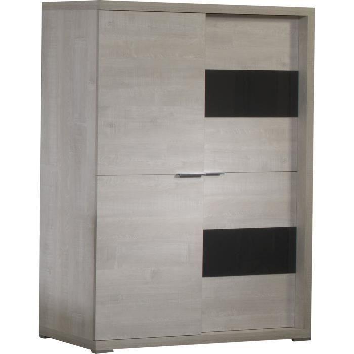 Meuble bar de rangement portes coulissantes coloris - Meuble rangement portes coulissantes ...