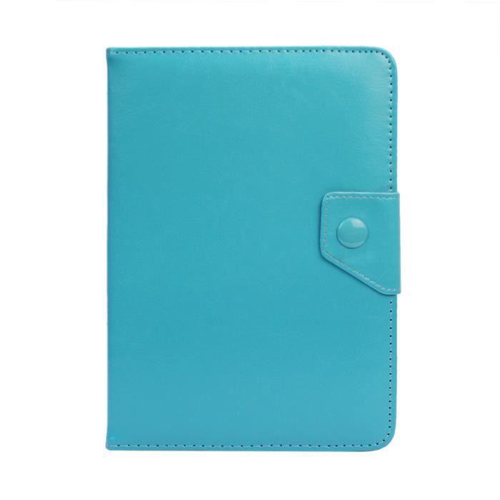 housse tablette tab tactile 7 pouces 201 tui universelle support protection bleu prix pas cher