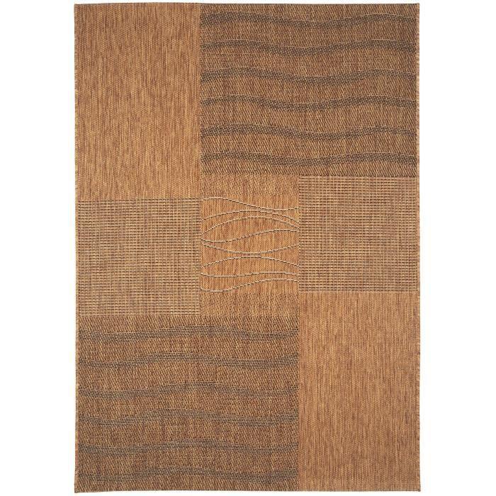 benuta tapis d 39 39 ext rieur int rieur riso marron 120x170 cm 39 achat vente tapis cdiscount. Black Bedroom Furniture Sets. Home Design Ideas