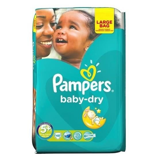 pampers baby dry taille 5 de 13 25kg 48 couches. Black Bedroom Furniture Sets. Home Design Ideas