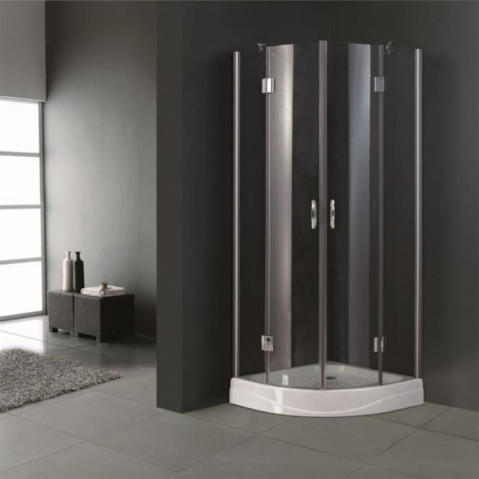 Cabine de douche ronde 80 cm achat vente cabine de - Cabine de douche cdiscount ...