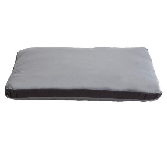 coussin bicolore d houssable noir et gris 72x62cm achat. Black Bedroom Furniture Sets. Home Design Ideas