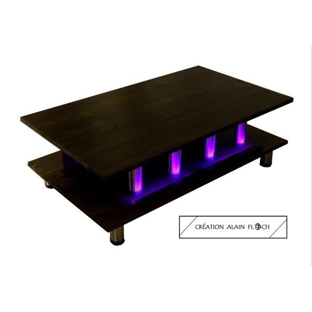 Table basse design unique alain floch bois massif for Table basse design bois acier