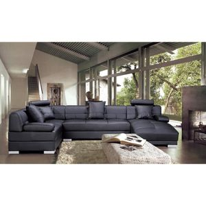 Canape d angle chesterfield achat vente canape d angle - Meridienne cuir noir ...