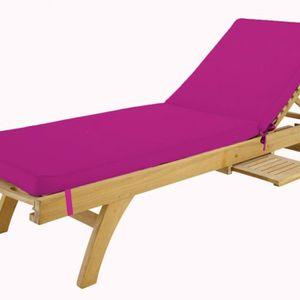 coussin bain de soleil en bois achat vente coussin. Black Bedroom Furniture Sets. Home Design Ideas