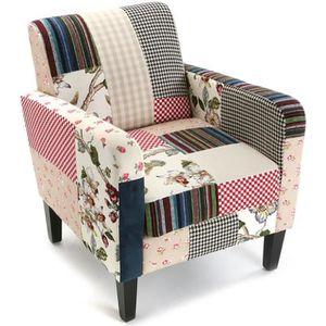 fauteuil patchwork achat vente fauteuil patchwork pas. Black Bedroom Furniture Sets. Home Design Ideas