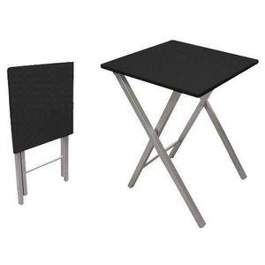 table de cuisine noir achat vente table de cuisine noir pas cher cdiscount. Black Bedroom Furniture Sets. Home Design Ideas