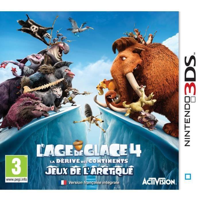 JEUX 3DS L'AGE DE GLACE 4: LA DERIVE DES CONTINENTS / 3DS