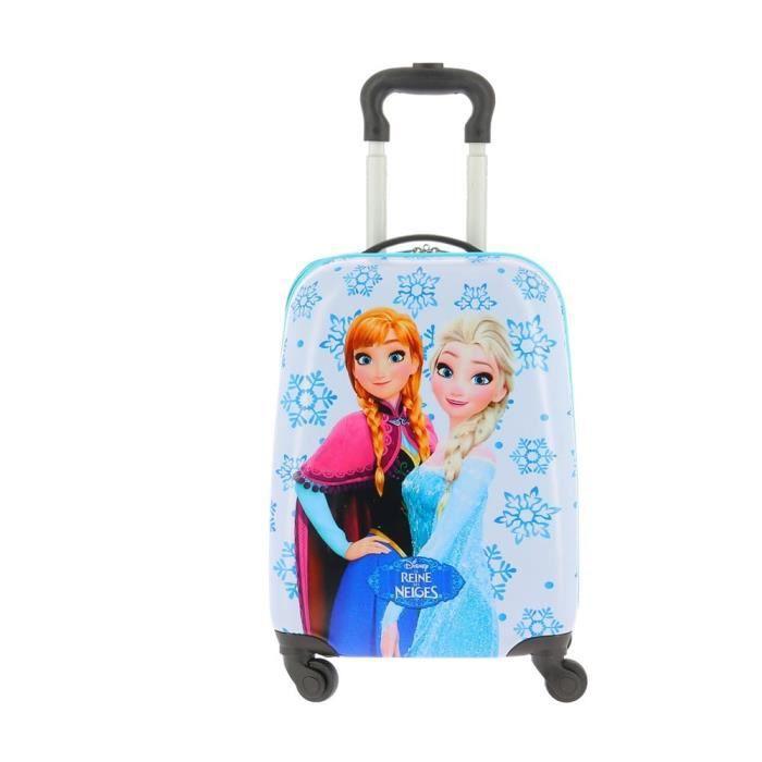 la reine des neiges valise rigide 4 roulettes la reine des neiges bleue achat vente valise. Black Bedroom Furniture Sets. Home Design Ideas