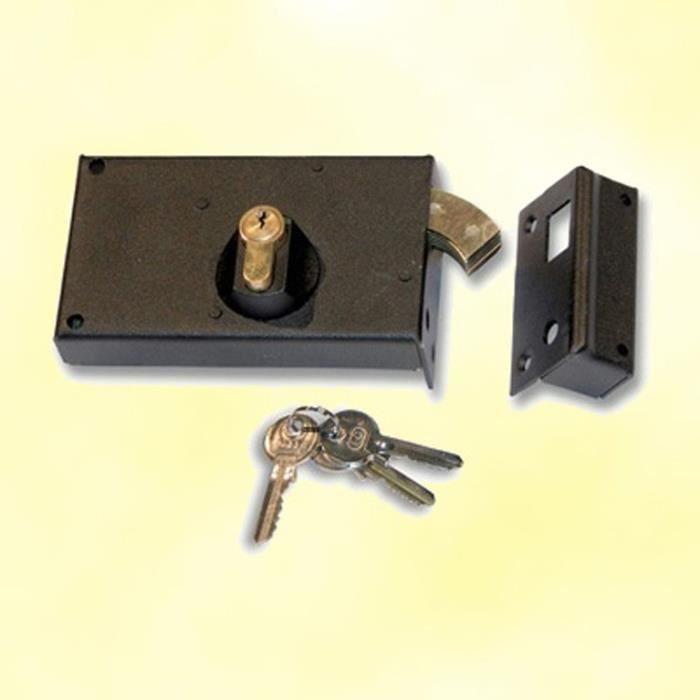 serrure plaquer droit avec cylindre et clefs pour portail coulissant achat vente. Black Bedroom Furniture Sets. Home Design Ideas