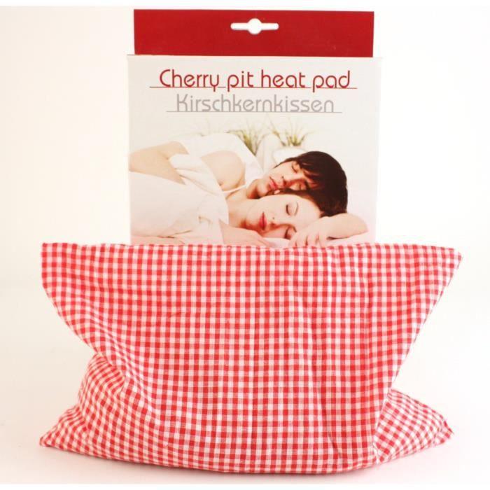 coussin noyaux de cerise tissu vichy rouge relax achat. Black Bedroom Furniture Sets. Home Design Ideas