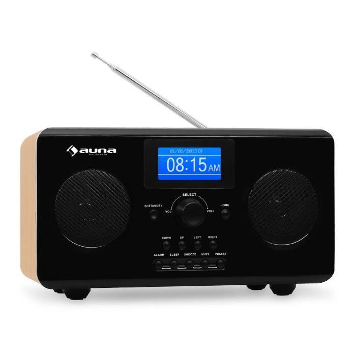 auna quarz 150 radio internet aux wifi tuner radio prix pas cher cdiscount. Black Bedroom Furniture Sets. Home Design Ideas