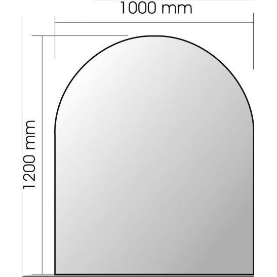 plaque en verre pour po le bois l 1200 x l 10 achat vente plaque de chemin e plaque en. Black Bedroom Furniture Sets. Home Design Ideas