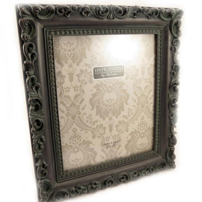 cadre photo romance noir 20x25 cm achat vente cadre photo r sine cdiscount. Black Bedroom Furniture Sets. Home Design Ideas