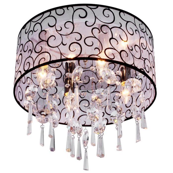 lustre salon plafonnier achat vente lustre salon plafonnier pas cher cdiscount. Black Bedroom Furniture Sets. Home Design Ideas